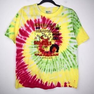 *Tie Dye* Caribbean Tourist Graphic T Shirt